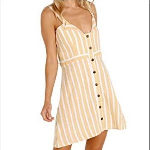 Faithfull The Brand Le Petit Dress in Yellow XS